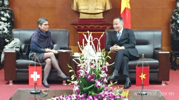 Deputy Minister Tran Quoc Khanh received the Ambassador of Switzerland in Viet Nam