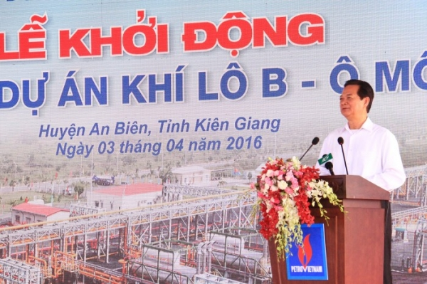 Prime Minister starts gas project in Kien Giang province