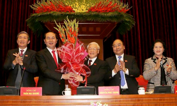 Nguyen Phu Trong re-elected Party General Secretary for next tenure